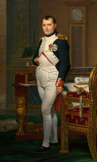 David, Jacques-Louis: The Emperor Napoleon in His Study at the Tuileries. Fine Art Print/Poster
